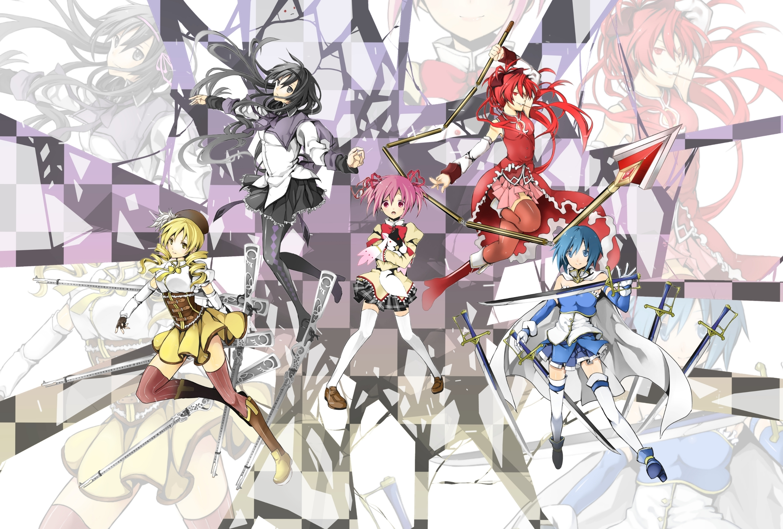 Download Wallpaper From Anime Puella Magi Madoka Magica With Tags