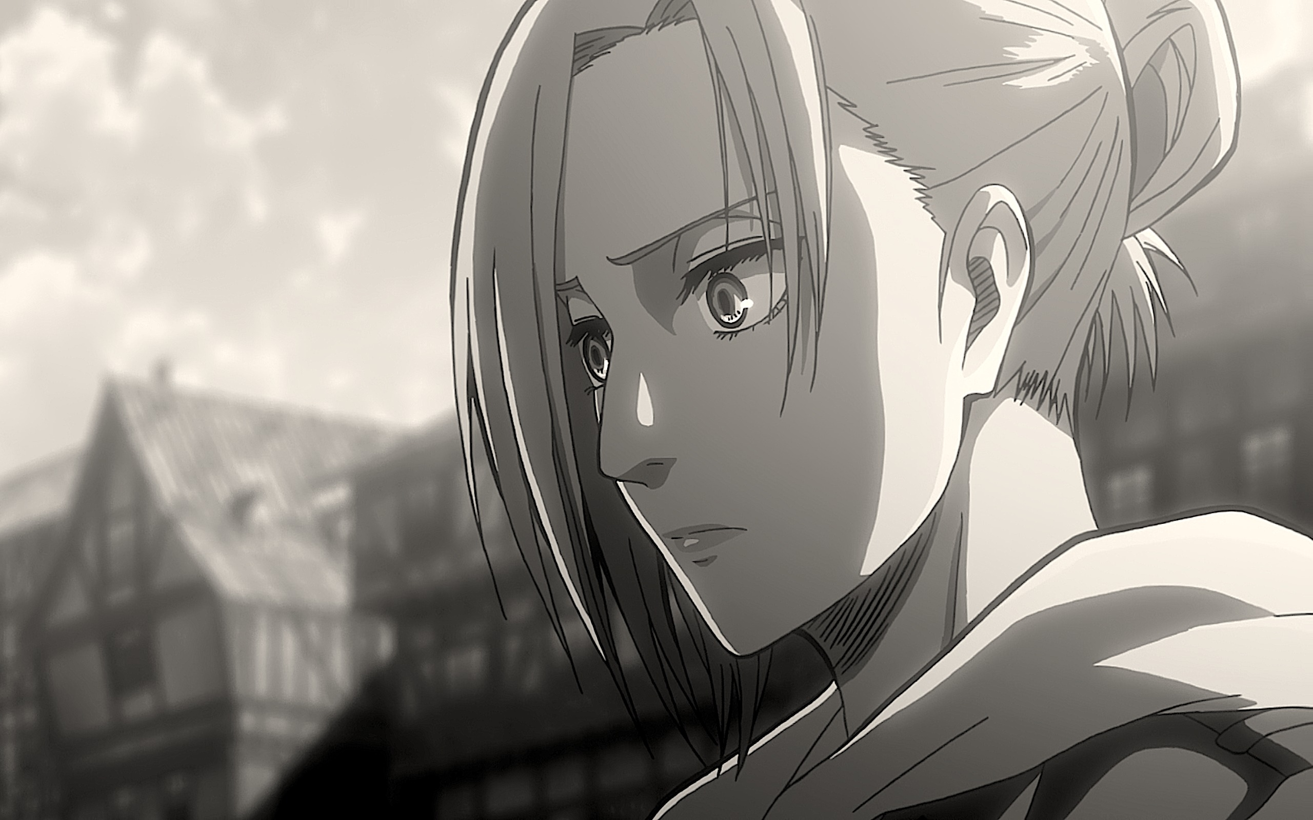 Download Wallpaper From Anime Attack On Titan With Tags Black Amp White Linux Annie Leonhart Shingeki No Kyojin