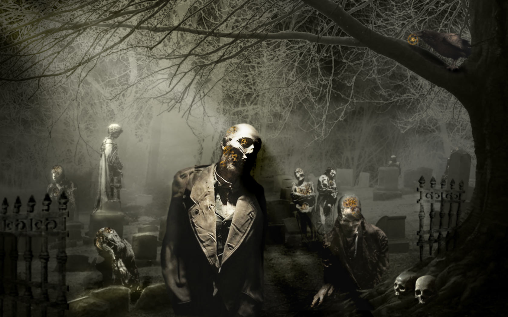 Download Wallpaper Dark Zombie With Tags Dark Windows Vista
