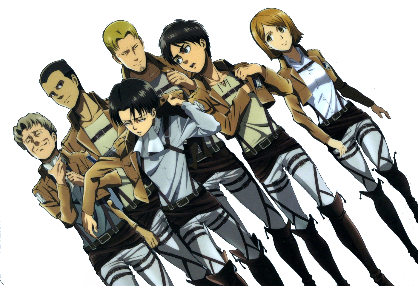 Download Wallpaper From Anime Attack On Titan With Tags Download Eren Yeager Levi Ackerman Petra Ral Gunther Schultz Eld Jinn Oluo Bozado