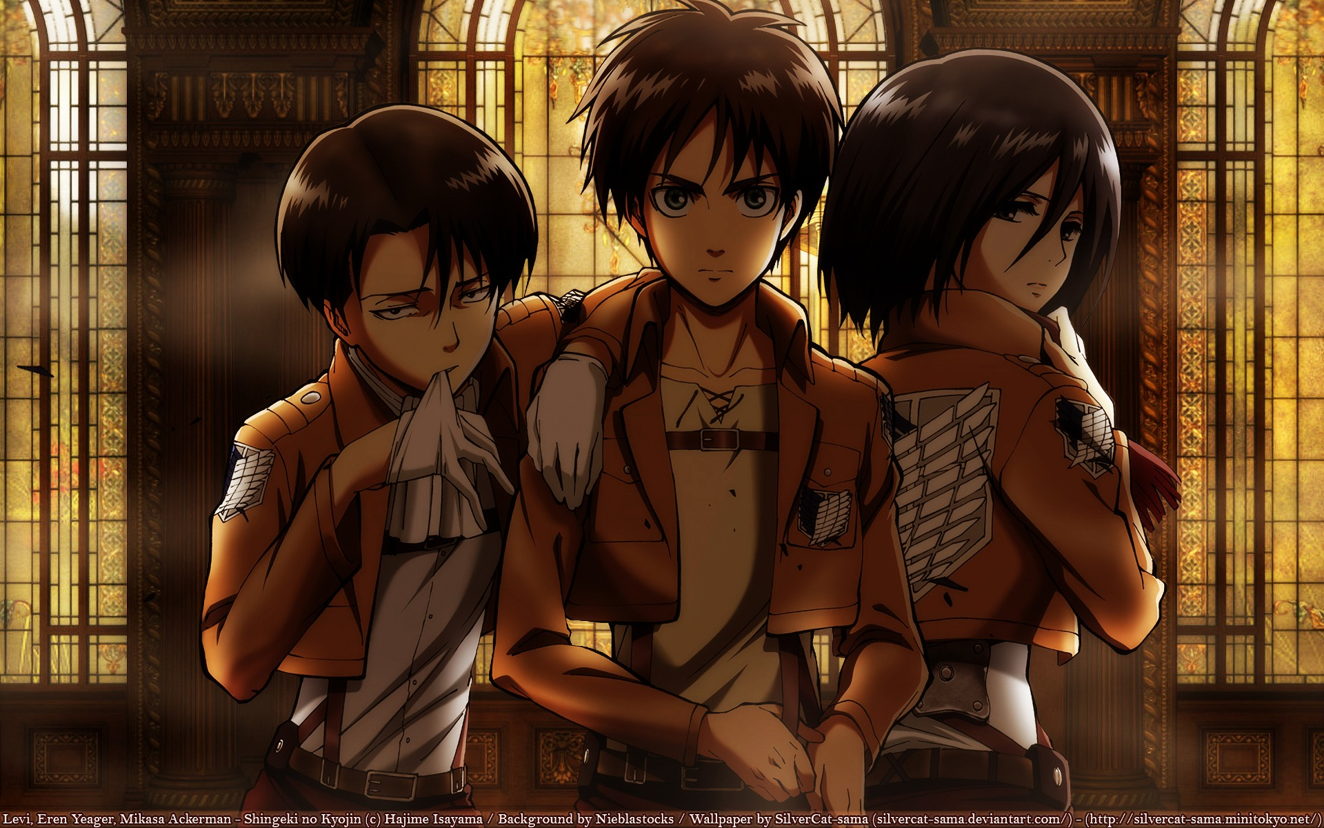Download Wallpaper From Anime Attack On Titan With Tags Windows 7 Eren Yeager Mikasa Ackerman Levi Ackerman