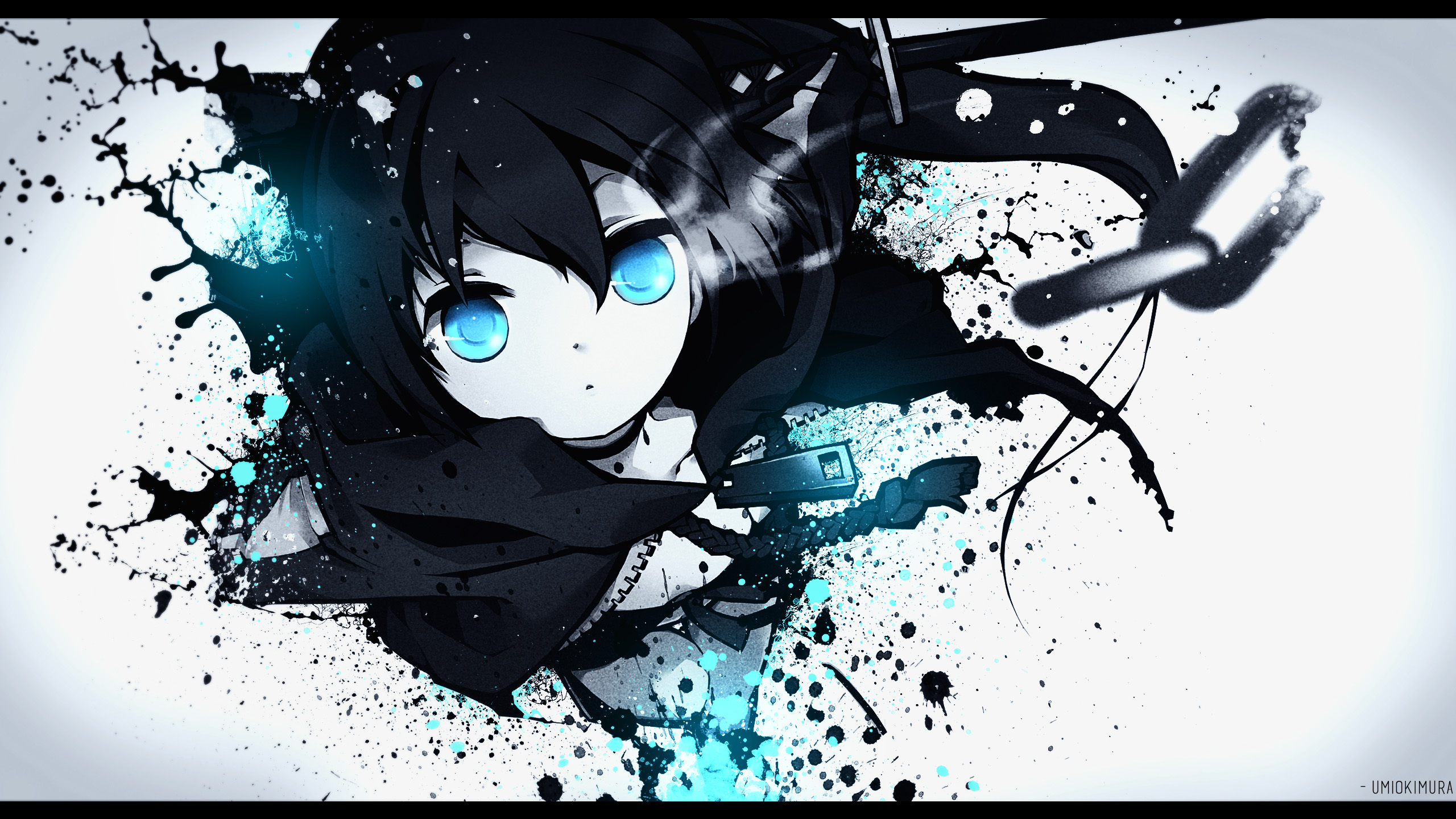 Download Wallpaper From Anime Black Rock Shooter With Tags Microsoft