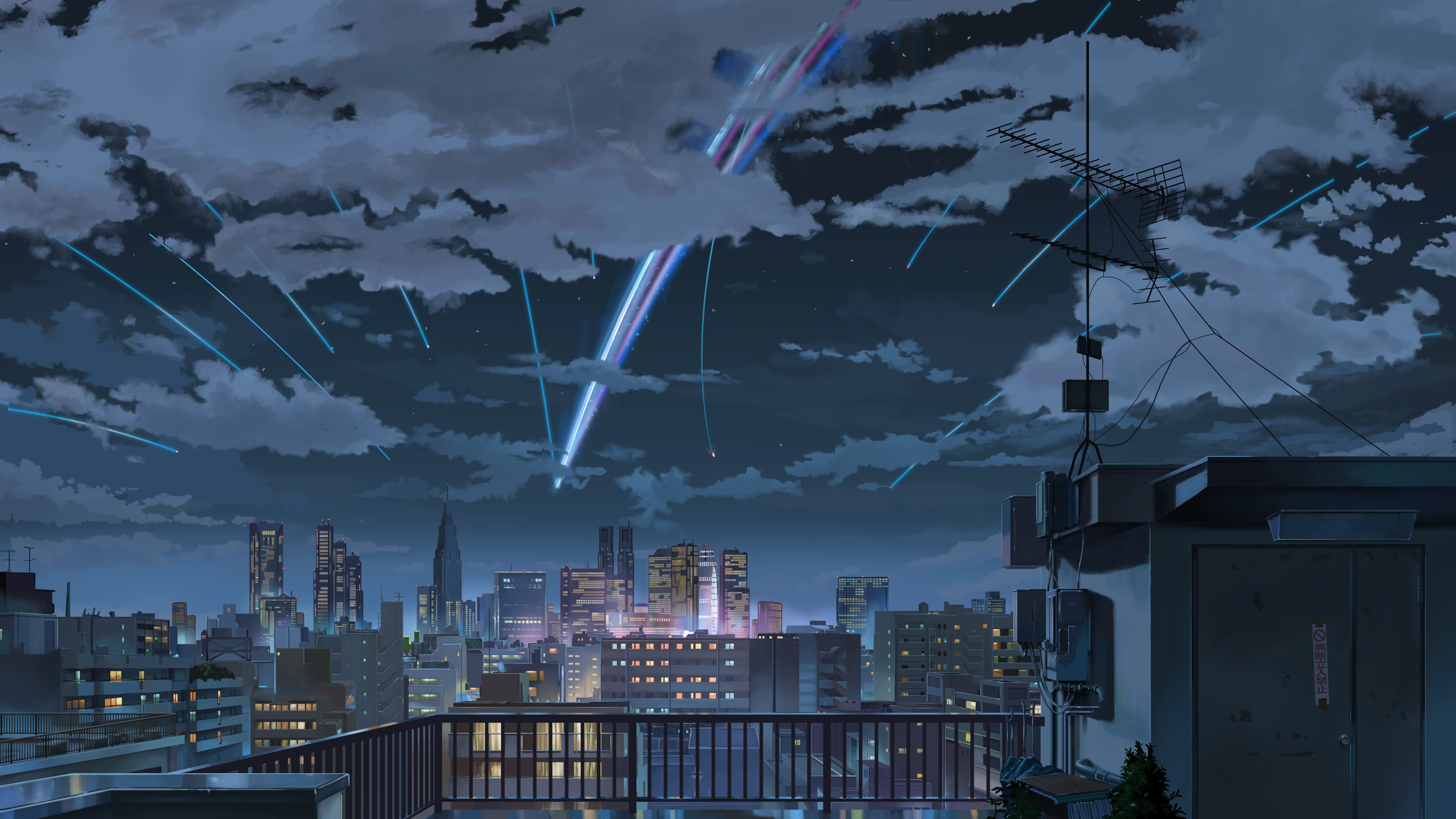 Wallpapers From Anime Your Name 5120x2880 Tags Backgrounds Cool Sky
