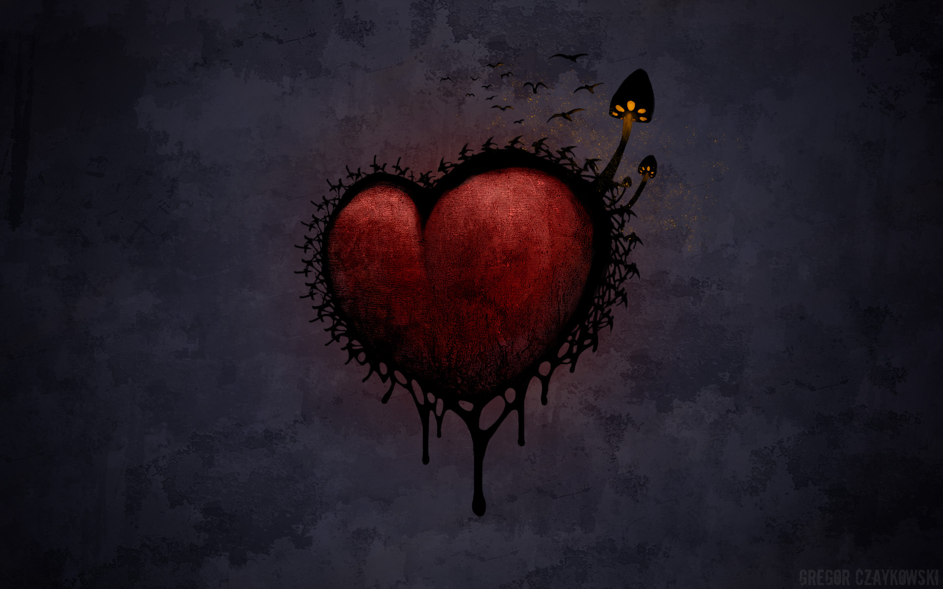 gothic heart pictures - HD 1920×1200
