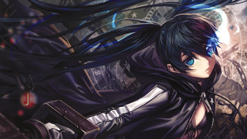 Download wallpaper Black Rock Shooter