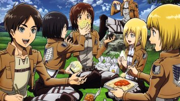 Wallpapers From Anime Attack On Titan 2048x1152 Tags Windows 8 Eren Yeager Mikasa Ackerman
