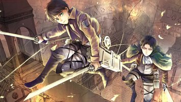 Wallpapers From Anime Attack On Titan 1280x720 Tags Windows 7 Eren Yeager Mikasa Ackerman