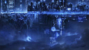 Download wallpaper Sci Fi City