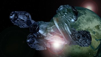 Download wallpaper Sci Fi Spaceship