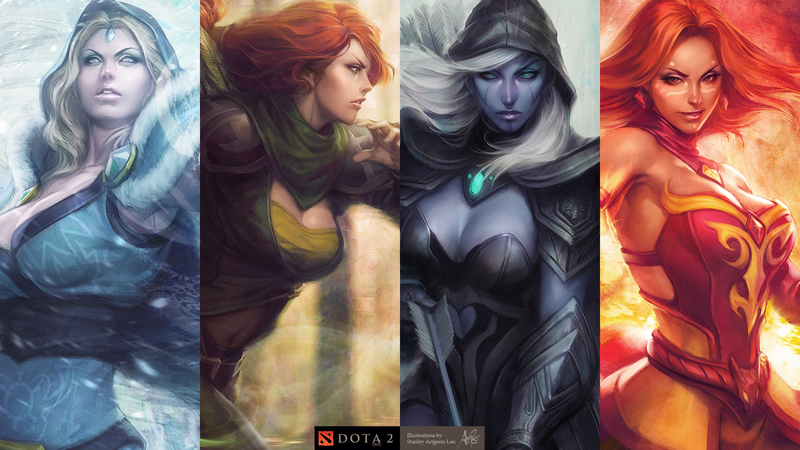 Download wallpaper from game DotA 2