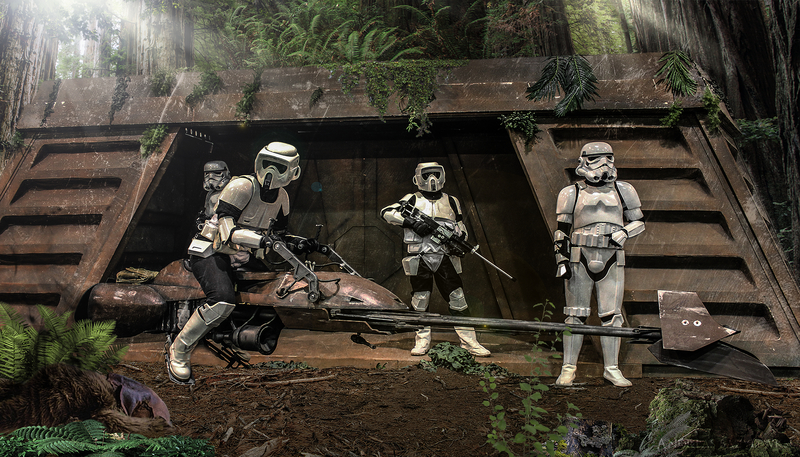Download Wallpaper From Movie Star Wars Episode Vi Return Of The Jedi With Tags Hot Free Windows 7 Forest Star Wars Ewok Scout Trooper Speeder Bike Stormtrooper