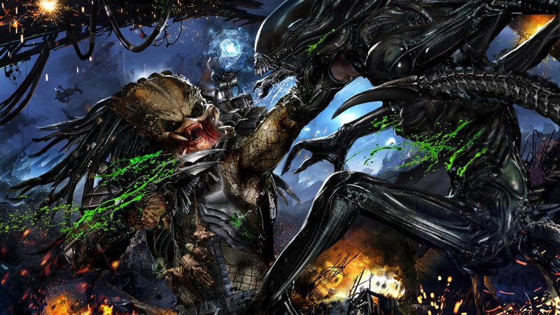 Download Wallpaper Sci Fi Alien Vs Predator With Tags Computer Predator Alien Vs Predator Xenomorph