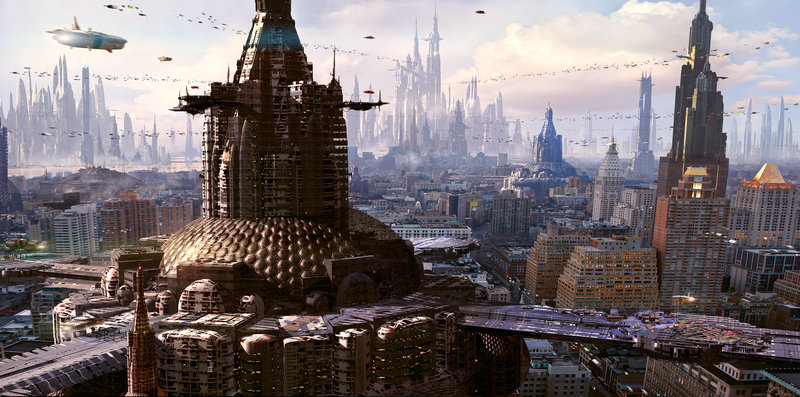 Sci Fi City Download Wallpaper