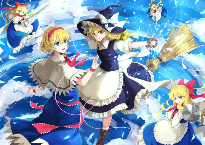 Download Wallpaper From Anime Touhou With Tags MacBook Air Marisa