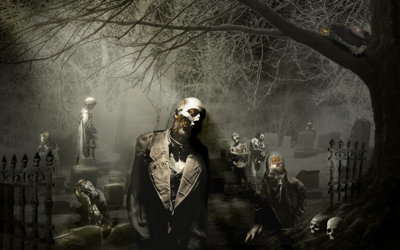 Download Wallpaper Dark Zombie With Tags Dark Windows Vista Zombie Graveyard