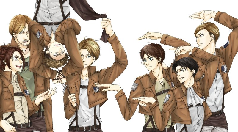 Download Wallpaper From Anime Attack On Titan With Tags Windows 10 Eren Yeager Hange Zoe Levi Ackerman Jean Kirstein Erwin Smith Mike Zacharius Nanaba