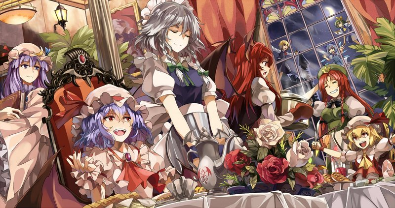 Download Wallpaper From Anime Touhou With Tags Cool