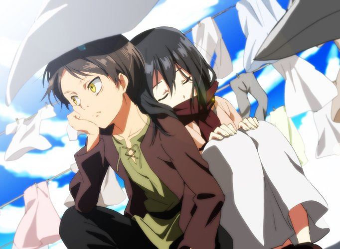 Download Wallpaper From Anime Attack On Titan With Tags Eren Yeager Mikasa Ackerman Imac