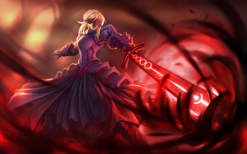 Download Wallpaper From Anime Fate Stay Night With Tags Saber Saber Alter Full Screen