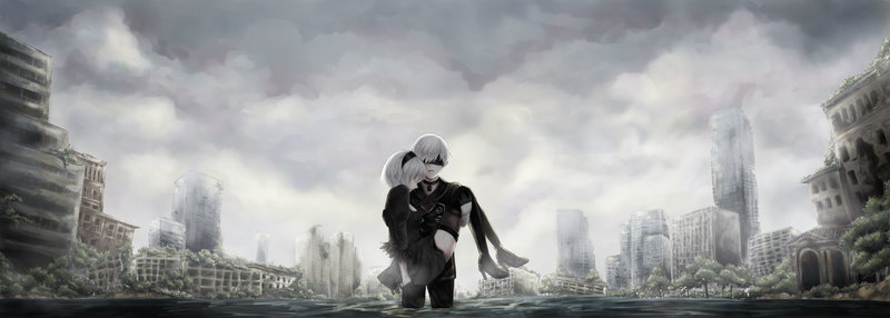 Download Wallpaper From Game Nier Automata With Tags