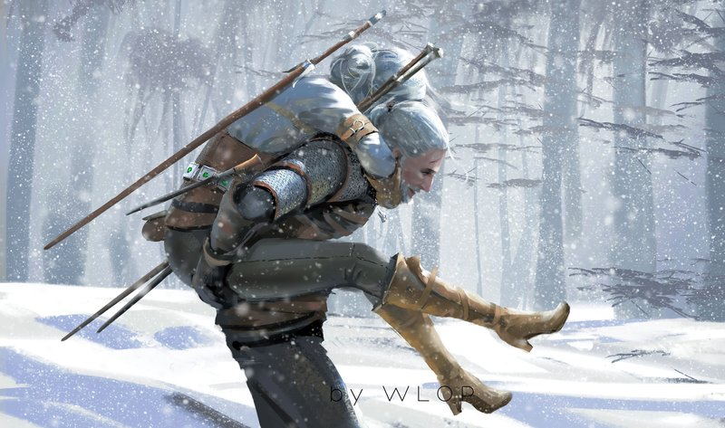 Download Wallpaper From Game The Witcher 3 Wild Hunt With Tags Macbook Ciri Geralt Of Rivia