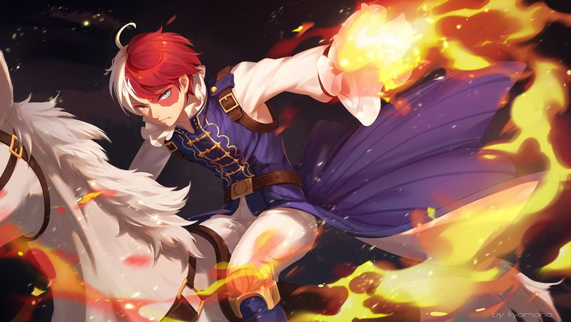 Download Wallpaper From Anime My Hero Academia With Tags Laptop Shouto Todoroki