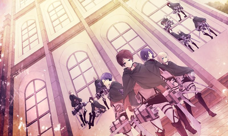 Download Wallpaper From Anime Attack On Titan With Tags Laptop Eren Yeager Mikasa Ackerman Levi Ackerman Armin Arlert