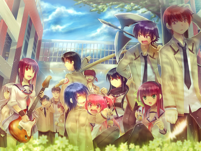 Download Wallpaper From Anime Angel Beats With Tags