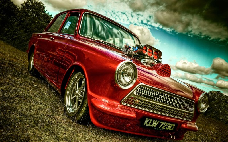Download wallpaper with cars Hot Rod